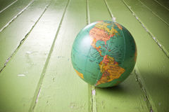 Priorità bassa verde del globo del mondo Fotografie Stock Libere da Diritti