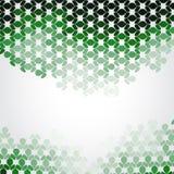 Priorità bassa verde del mosaico Fotografia Stock