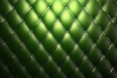 Priorità bassa verde del reticolo del cuoio genuino Fotografie Stock Libere da Diritti