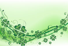 Priorità bassa verde del trifoglio Fotografia Stock