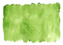 Priorità bassa verde dell'acquerello Struttura (di carta) increspata Fotografia Stock