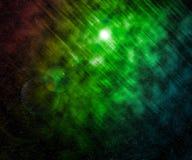 Priorità bassa verde dell'universo delle stelle immagine stock libera da diritti