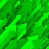 Priorità bassa verde della freccia - solido Immagini Stock Libere da Diritti