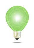 Priorità bassa verde della lampadina di eco Fotografia Stock