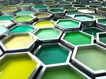 Priorità bassa verde della vernice illustrazione di stock