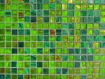 Priorità bassa verde delle mattonelle Immagine Stock