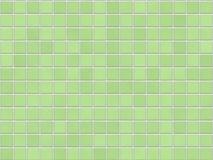 Priorità bassa verde delle mattonelle Fotografia Stock