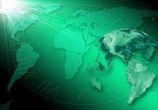 Priorità bassa verde di affari Immagini Stock