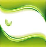 Priorità bassa verde di ecologia illustrazione vettoriale