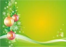 Priorità bassa verde di nuovo anno Fotografia Stock Libera da Diritti