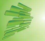 Priorità bassa verde di prospettiva Fotografie Stock