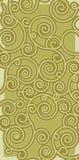 Priorità bassa verde di scrollwork Immagine Stock
