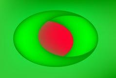 Priorità bassa verde e rossa Immagine Stock Libera da Diritti