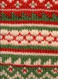 Priorità bassa verde rossa del Knit Fotografie Stock