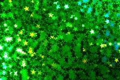Priorità bassa verde stellata ingrandetta Fotografia Stock Libera da Diritti