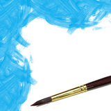 Priorità bassa verniciata acquerello blu Fotografia Stock Libera da Diritti
