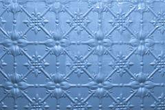 Priorità bassa verniciata blu del metallo Fotografie Stock