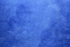 Priorità bassa verniciata blu di struttura della parete di Grunge Immagine Stock