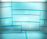 Priorità bassa virtuale blu della stanza Immagini Stock