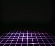 Priorità bassa virtuale viola del pavimento del laser royalty illustrazione gratis