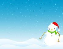 Priorità bassa /wallpaper di inverno del pupazzo di neve Immagini Stock