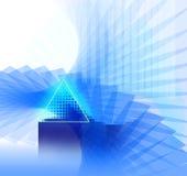 Priorità-blu-nano-neon Fotografia Stock