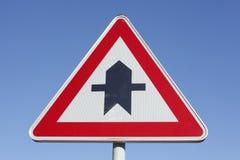 Prioritäts-Verkehrszeichen Lizenzfreies Stockfoto