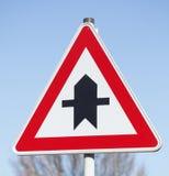 Prioritäts-Verkehrszeichen Lizenzfreies Stockbild