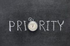 Prioritätswort lizenzfreies stockfoto