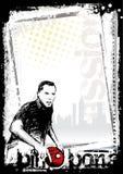 Priorità bassa 3 del manifesto del pong di rumore metallico Fotografie Stock Libere da Diritti