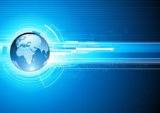 Priorità bassa alta tecnologia astratta Fotografie Stock