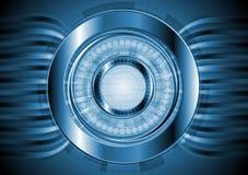 Priorità bassa alta tecnologia blu scuro. Disegno di vettore Fotografie Stock Libere da Diritti