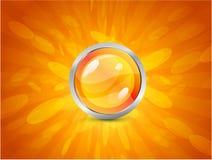 Priorità bassa arancione astratta Fotografie Stock Libere da Diritti