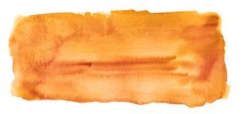 Priorità bassa arancione astratta dell'acquerello isolata Fotografia Stock Libera da Diritti