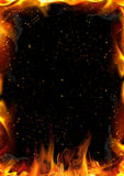 Priorità bassa astratta con la fiamma del fuoco Fotografia Stock Libera da Diritti