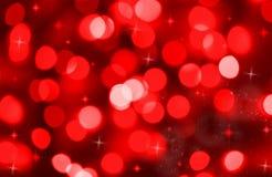 Priorità bassa astratta degli indicatori luminosi rossi di festa Fotografia Stock Libera da Diritti