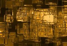 Priorità bassa astratta del cristallo dell'oro Fotografie Stock