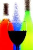 Priorità bassa astratta del vino Fotografie Stock