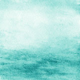 Priorità bassa astratta dell'acquerello Il colore di acqua di verde blu gradisce il mare Fotografie Stock
