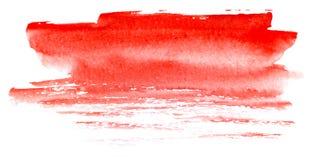 Priorit? bassa astratta dell'acquerello Un punto delle strisce rosse striate della pittura Illustrazione disegnata a mano dell'ac illustrazione di stock