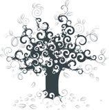 Priorità bassa astratta dell'albero Fotografie Stock Libere da Diritti