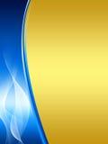 Priorità bassa astratta dell'oro e dell'azzurro Fotografie Stock Libere da Diritti