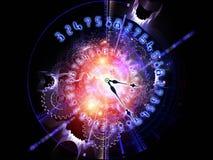 Priorità bassa astratta dell'orologio Fotografia Stock