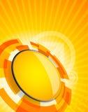 Priorità bassa astratta di tecnologia nel colore arancione Immagine Stock Libera da Diritti
