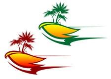 Priorità bassa astratta tropicale Immagini Stock Libere da Diritti