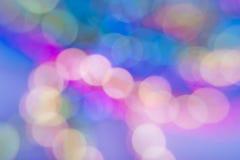 Priorità bassa astratta variopinta con i cerchi di indicatore luminoso Fotografia Stock