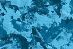 Priorit? bassa blu astratta dell'acquerello Struttura variopinta della vernice di Grunge Colpi della spazzola Modello vivo della  royalty illustrazione gratis
