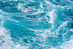 priorità bassa blu delle onde di oceano Immagini Stock Libere da Diritti