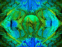 Priorità bassa blu-verde astratta Fotografia Stock