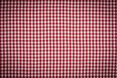 Priorità bassa Checkered Vignetted del percalle di RedWhite Fotografia Stock